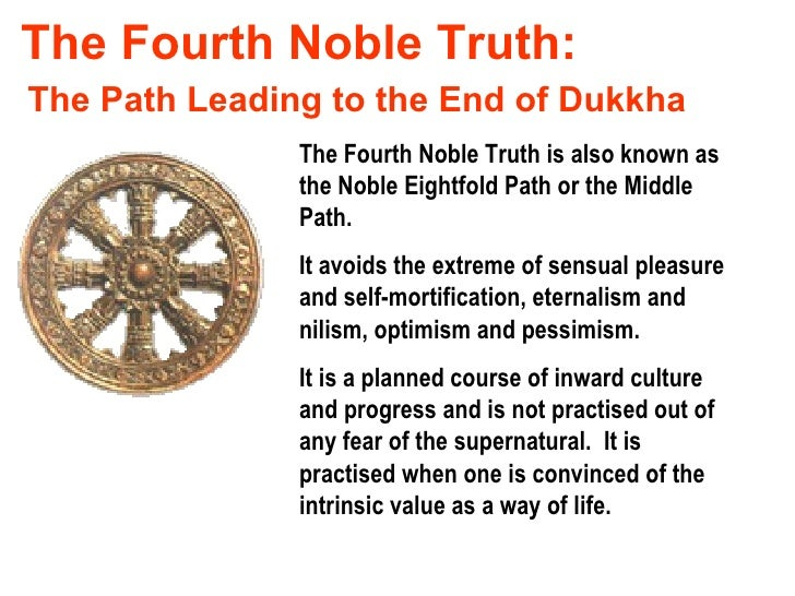 an understanding of buddhism the noble truths and the noble eightfold path While buddhism does not encourage blindly following rules and principles, it is   the fourth noble truth: the eightfold path will show you the way out of.