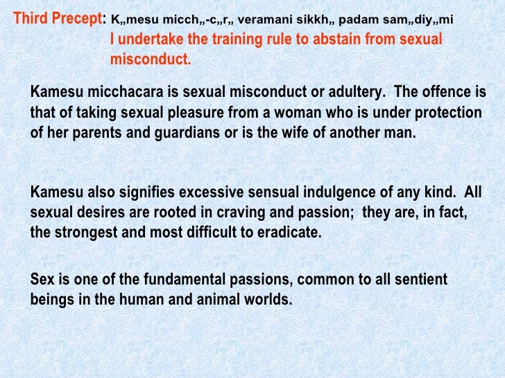 Ten precepts buddhism definition of sexual misconduct