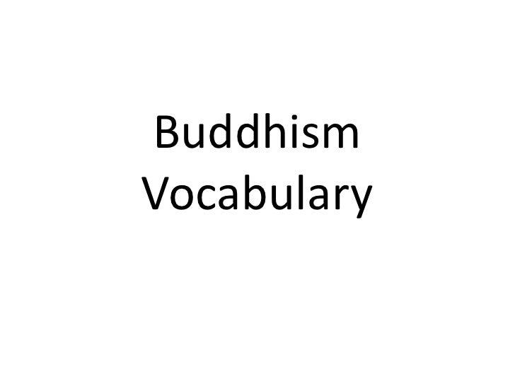 BuddhismVocabulary