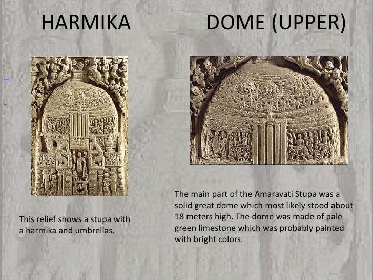 HARMIKA                             DOME (UPPER).                                     The main part of the Amaravati Stupa...