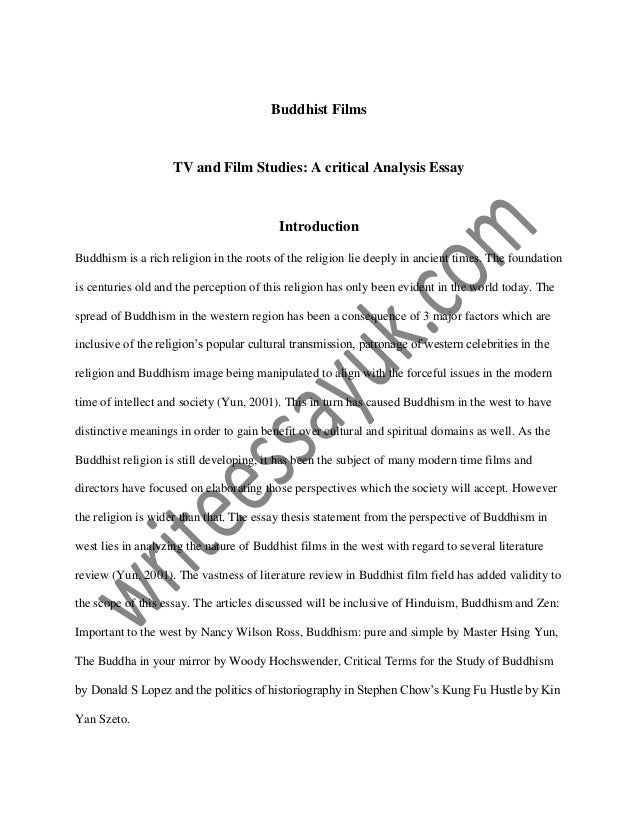 Thesis Statement Essay Buddhist Films Tv And Film Studies A Critical Analysis Essay Introduction  Buddhism Is A Rich  Written Essay Papers also Causes Of The English Civil War Essay Buddhist Films Tv And Film Studies A Critical Analysis Essay What Is A Thesis In An Essay