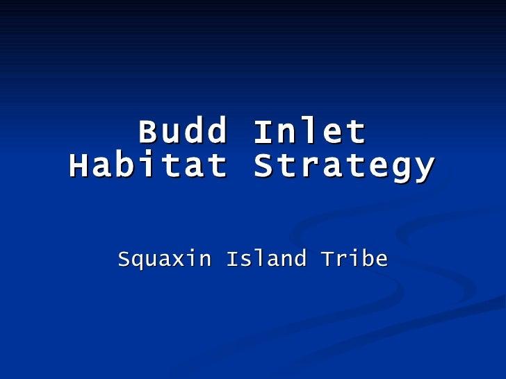 Budd Inlet Habitat Strategy Squaxin Island Tribe
