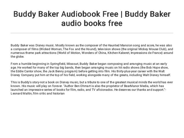 Buddy Baker Audiobook Free | Buddy Baker audio books free