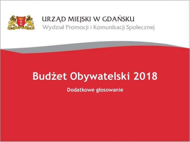 Budżet Obywatelski 2018 Dodatkowe głosowanie