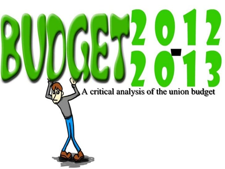 A critical analysis of the union budget