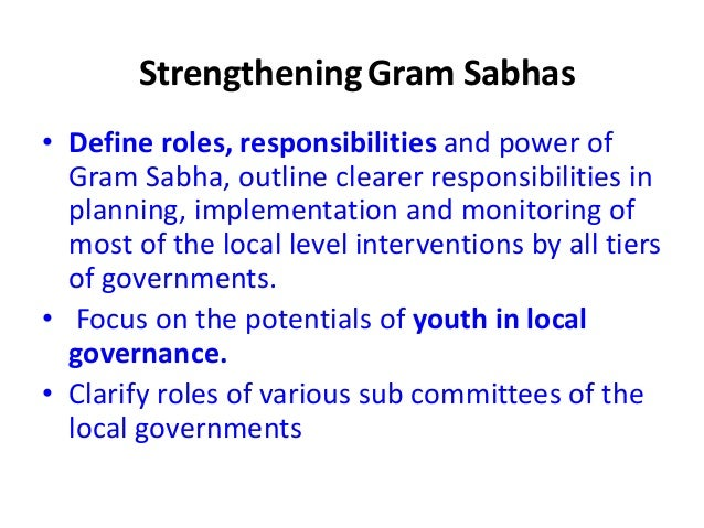 Role of Gram Sabha