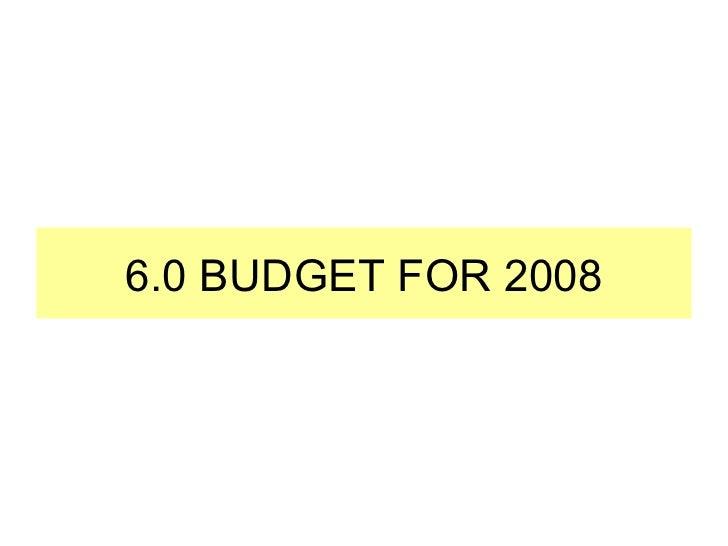 budget presentation template