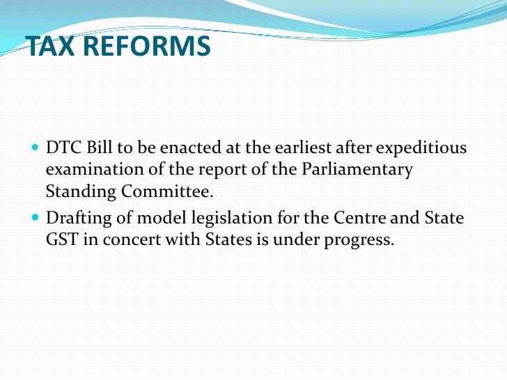 Standing committee report on insurance bill