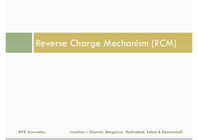 Budget 2015 ... Reverse Charge Mechanism In Service Tax 2016