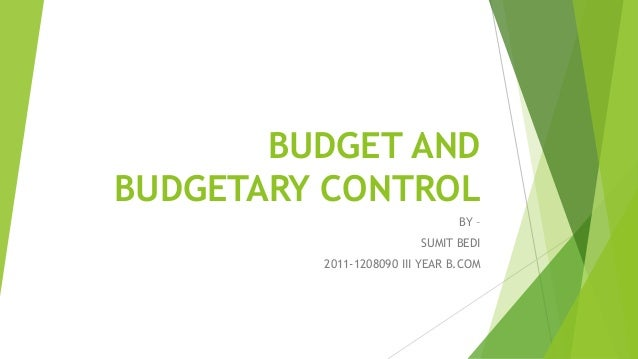 thesis on budgeting and budgetary control