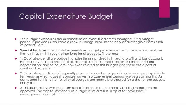 Capital budget recommendation