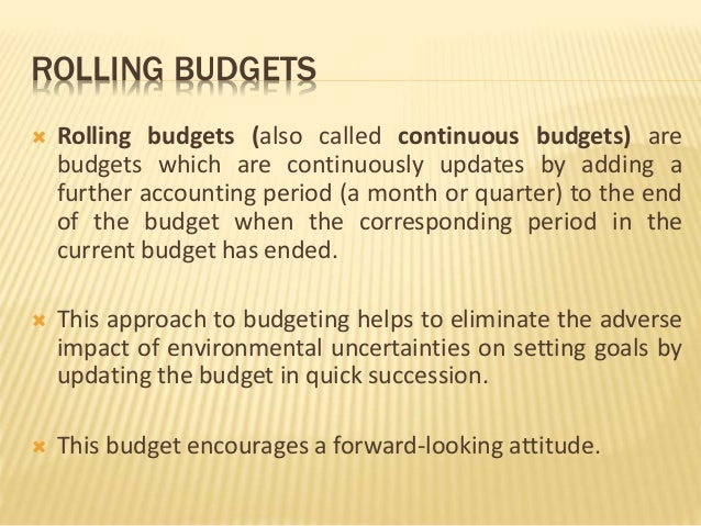 the impact of budgeting and budgetary 3 days ago  budget categories, budgeting process, and budget variance analysis are  this  non-cash expense does have one impact on real cash flow.