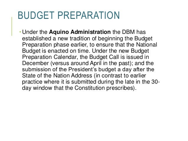 administration of the budgetary process Four principles of budget process the four principles of the budget process budgetary practices are derived from these elements and are a.