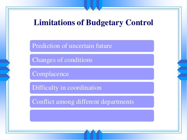 budgets and budgetory control Study therefore seeks to undertake a systematic review of budgeting and budgetary control in government owned organizations and given the importance of the foregoing, attention was focused on the nigerian national petroleum.