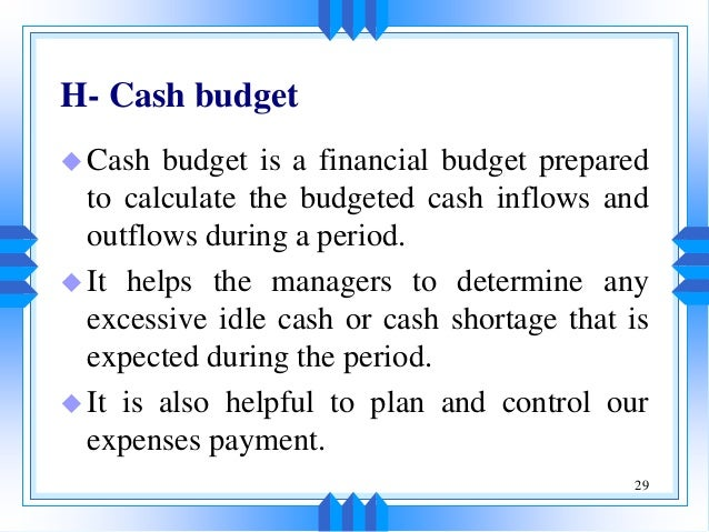budgets and budgetory control essay Budgeting essay writing service, custom budgeting papers, term papers, free budgeting samples, research papers, help.