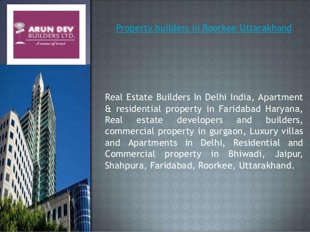 Arun Dev Builders In Delhi Commercial And Residential Property In De
