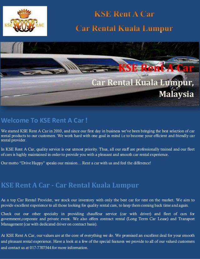 KSE Rent A Car Rental Kuala Lumpur Malaysia Welcome To