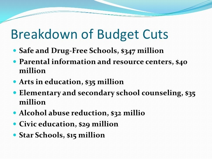 budgets cuts and their negative effect Sample essay: how the budget cuts affect the student's education after the 2008 global economic recession, the united states education system has seen drastic budget.