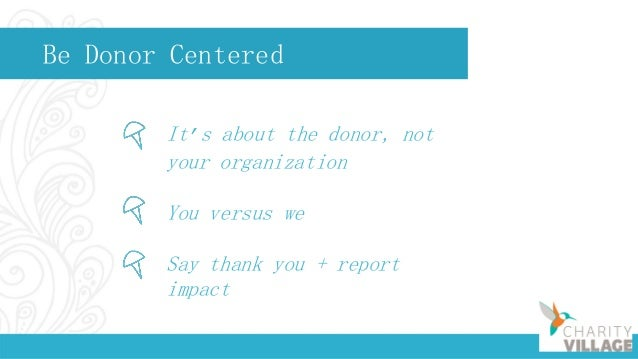 Question for You What do you do to steward donors?