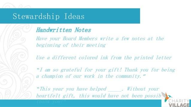 Stewardship Ideas Donor Newsletters