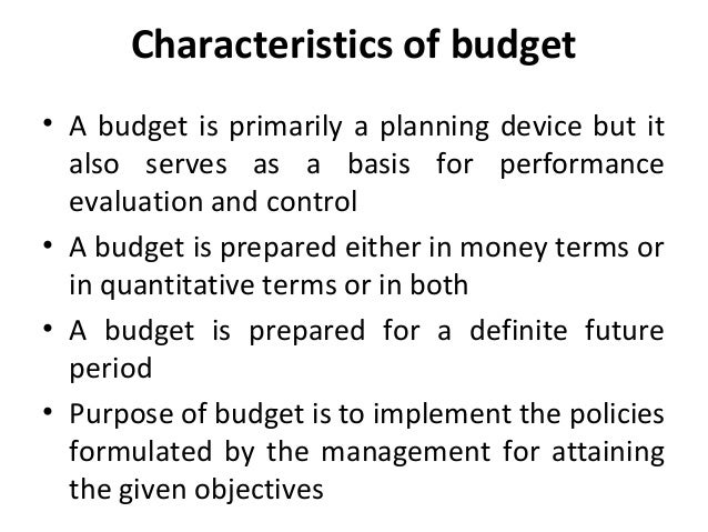 characteristics of budget And budget analysts,  a central role in public administration thought over the years (kaufman, 1969) , it is important to put them into perspective.