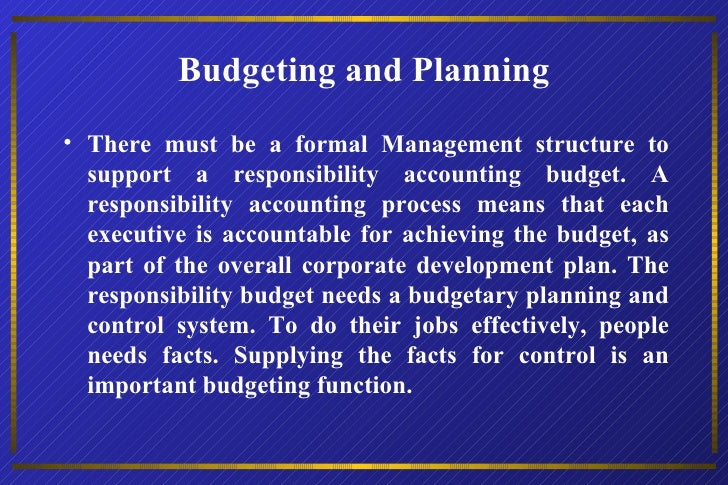 budgeting process and the use of budgetary information Spending and management through budgeting and budgetary process  use of performance information at  process performance based budgeting.