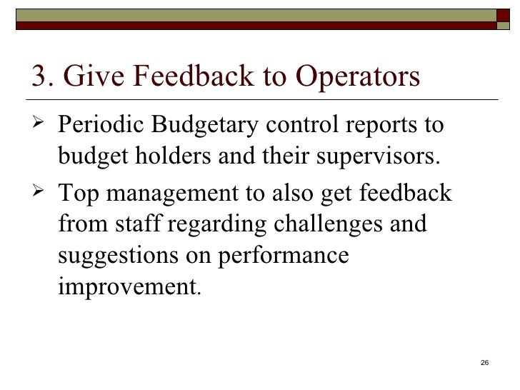budget and budgetary control for improved Budget and budgetary control: a tool for enhanced performance in  from the foregoing problems this paper seeks to examine how budget and budgetary control can lead to improved organizational performance knowledge review volume 26 no 3, december, 2012  a tool for enhanced performance in nigeria organizations -.