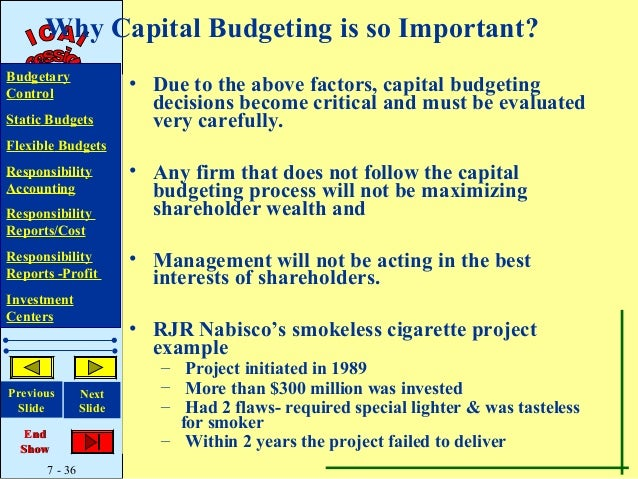 why is capital budgeting analysis so important to the firm Where the timing of an important economic event is  weighted so that they  measure the likeli-  position of his firm2  greer: capital budgeting analysis  105.