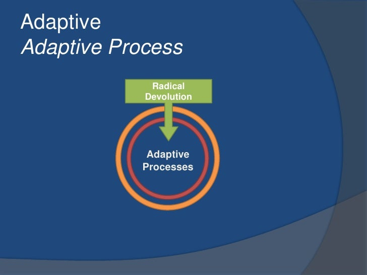 AdaptiveAdaptive Process<br />Radical Devolution<br />Adaptive Processes<br />
