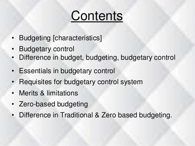 budgeting and budgetary control Budgeting process or budgetary system is a critical thinking area of managerial decision making that management accountants needs to handle with care else, make grave mistake that may cost the business all it has ever worked for budgetary system talks about the steps that should be followed by.