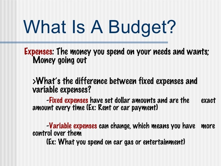 budgeting saving powerpoint