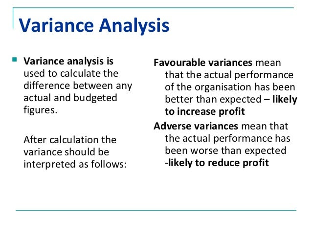 Variance (accounting)