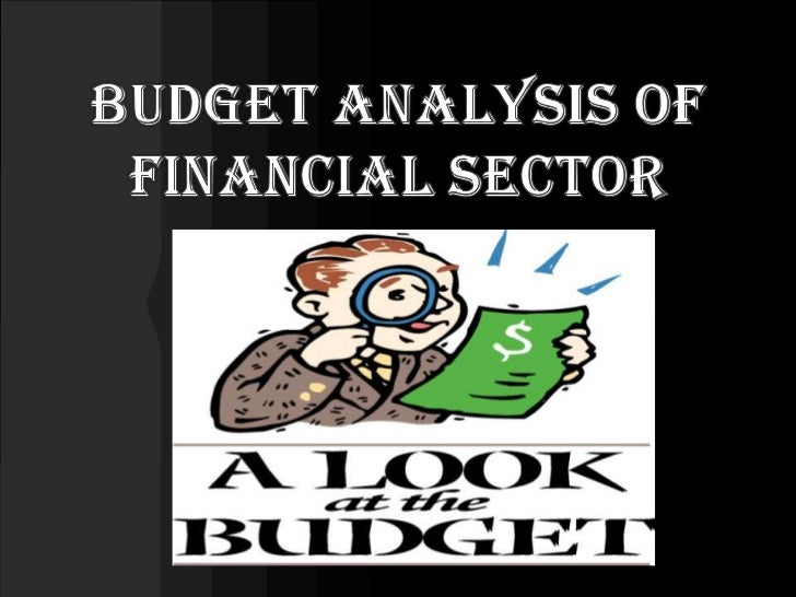 budget analysis of financial sector<br />