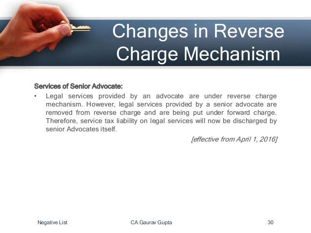Budget 2016 ... Reverse Charge Mechanism In Service Tax 2016