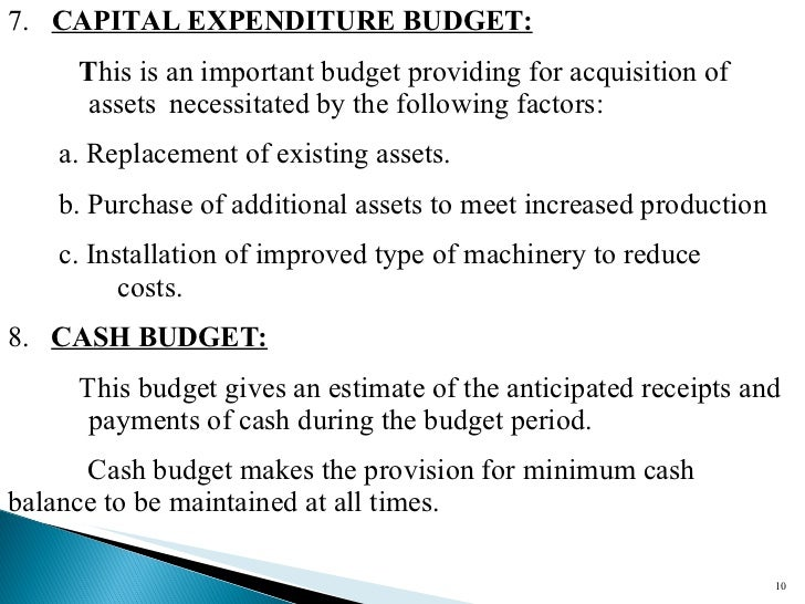 The importance of capital budgeting essay