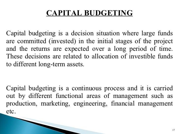 Thesis on capital budgeting