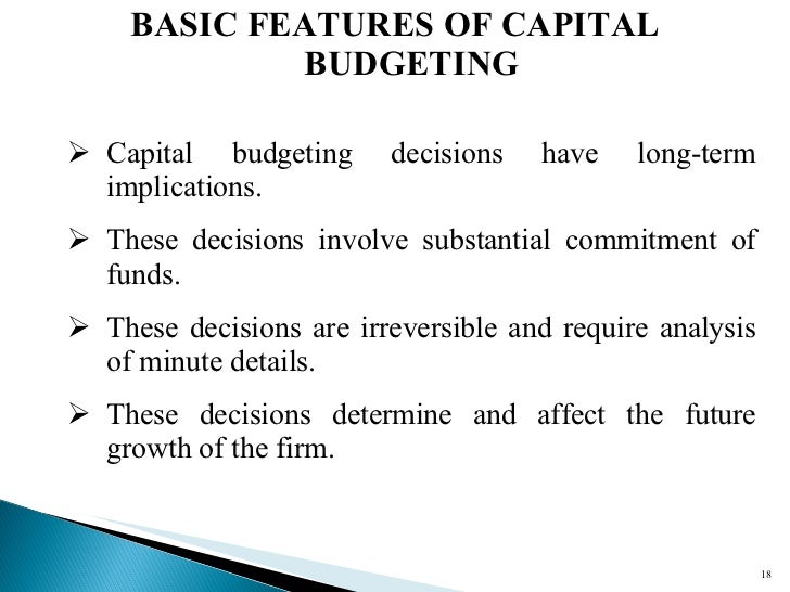 sample capital budget decision Capital budgeting (or investment appraisal) is the process of determining the viability to long-term investments on purchase or replacement of property plant and equipment, new product line or other projects.