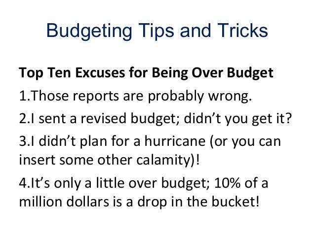 Bga1 problems in budgeting