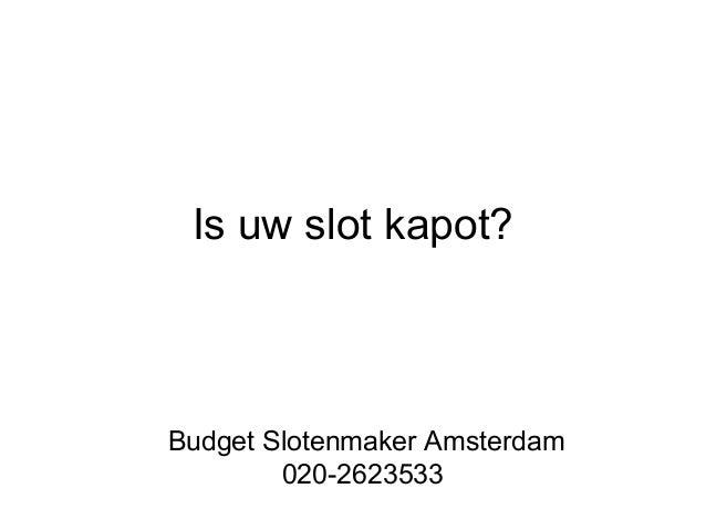 Budget Slotenmaker Amsterdam | Bel 020-2623533 Slide 3