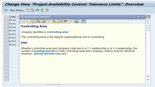 Budget Tolerance (SAP PS) Slide 2