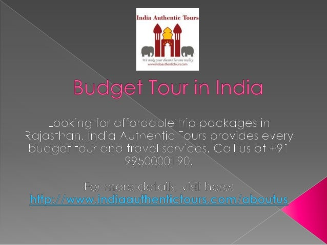 Budget tour in india
