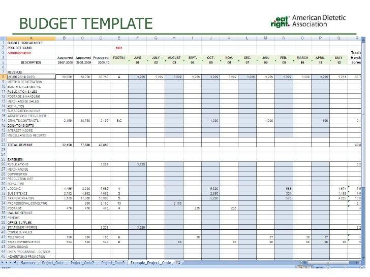 program budget template