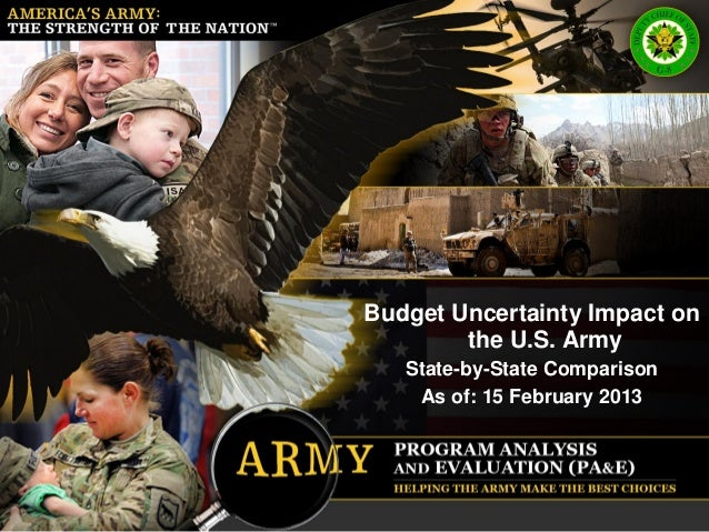 AMERICA'S ARMY:THE STRENGTH OF THE NATION                             Budget Uncertainty Impact on                        ...