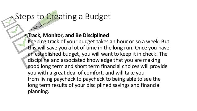 budget with a spreadsheet