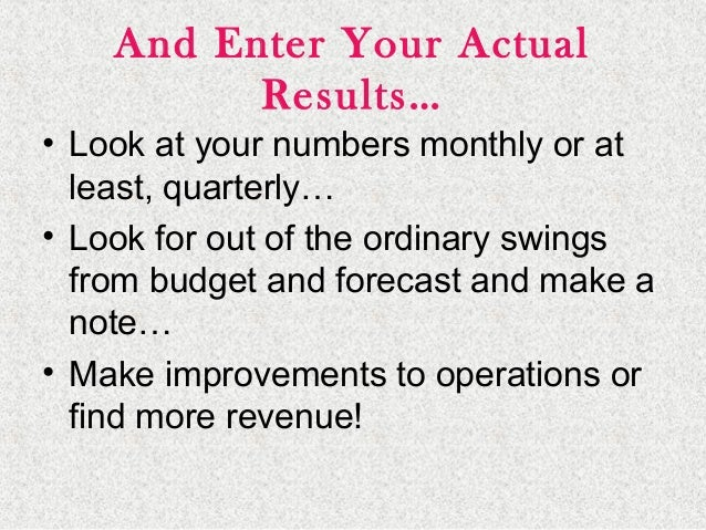 2525 Final Tips… • Projections are estimates of future operating results – YOU WILL BE WRONG! SO PREPARE! • Projections ca...