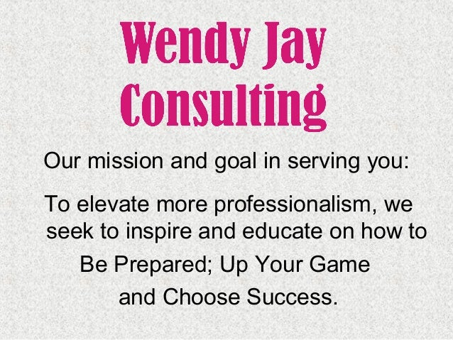 To elevate more professionalism, we seek to inspire and educate on how to Be Prepared; Up Your Game and Choose Success. Ou...