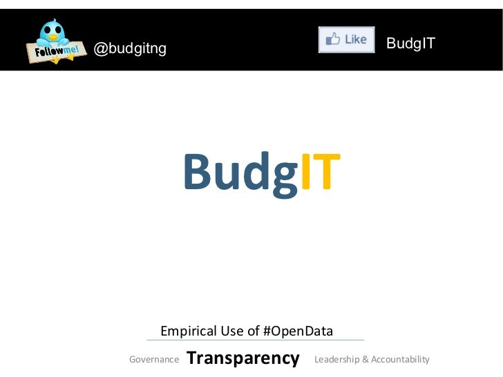 @budgitng                                        BudgIT                 BudgIT          Empirical Use of #OpenData    Gove...