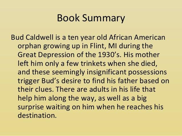 Bud not buddy book summary