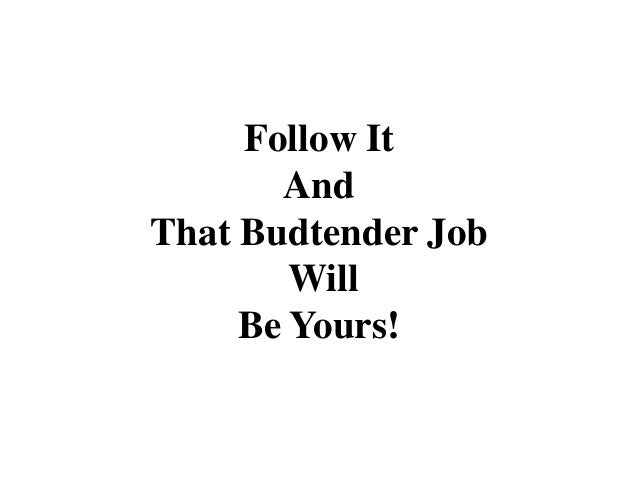 budtender jobs resume
