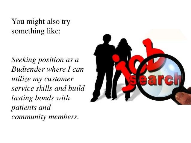 budtender jobs resume